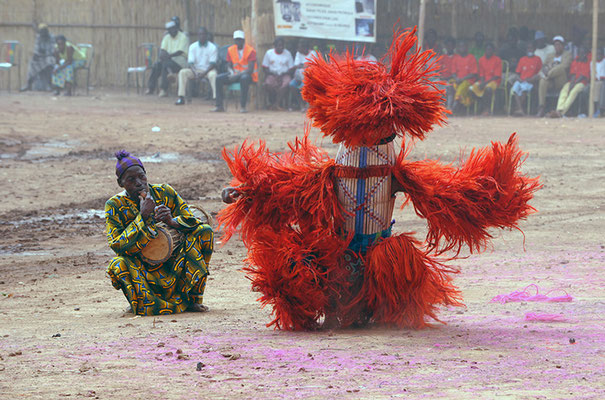 Masque fibres Kalin de Balavé (Burkina Faso)