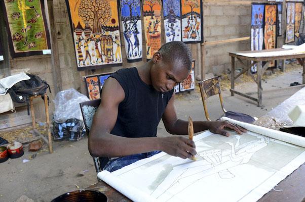 Artiste peintre batikier