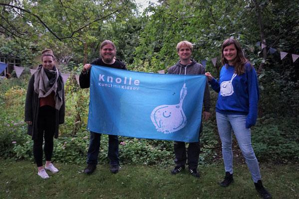 Der Vorstand: Schriftführerin Katrin Wientges, 2. Vorsitzender Tom Büning, Kasswenwart Patrick Moll, 1. Vorsitzende Samantha Moll