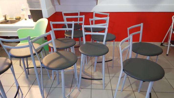Réfection de galet de chaise