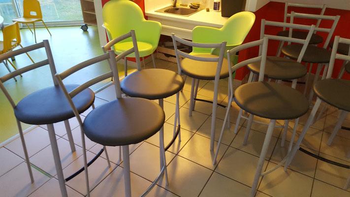 Réfection de galets de chaises