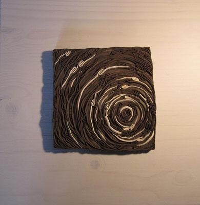 Tableau spirale minérale bicolore