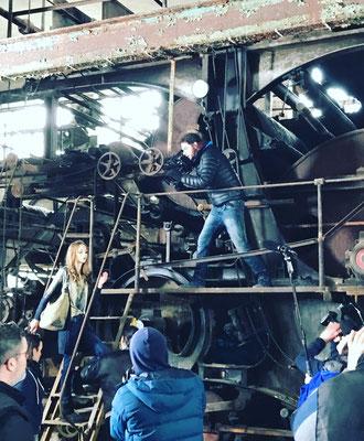 Dreharbeiten für Suri Frey Regie: Stefan Knauer, Kamera: Dennis Westenberger © 2017 by Dennis Westenberger