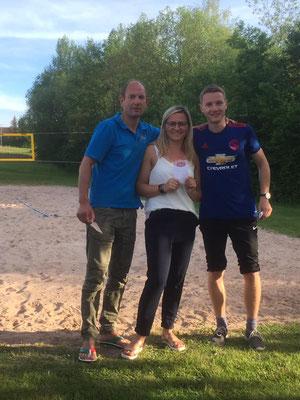 3. Platz: Andreas Jahn, Verena Frank, Jannik Thiel v.l.n.r.