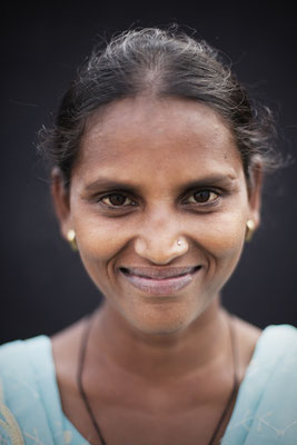 "Ranjeeta Vishwakarma, 21, Tailor. ""We have a toilet at home but it doesn't work."""