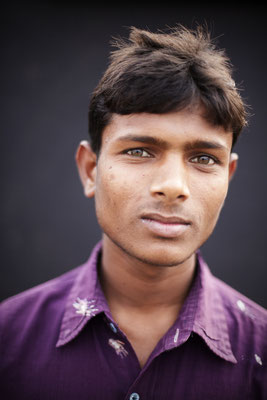 "Surya Jeet, 17, Student in Science: ""I came because my friend Amit called me. I wash my hands before and after eating but not after going to toilet."" Gorakhpur, Uttar Pradesh."