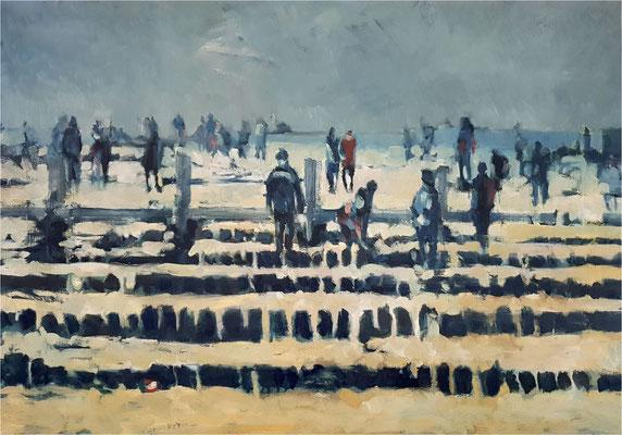 Herbstsuchende, Öl auf Leinwand, 2020, 100 x 70 cm