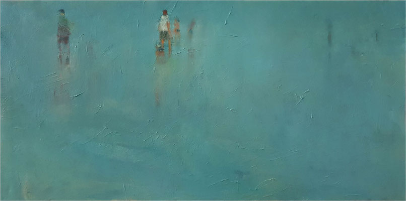 Kontaktverbot, Öl auf Leinwand, 2020, 100 x 50 cm