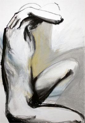 19, Kreide auf Papier, 2016, 50 x 70 cm