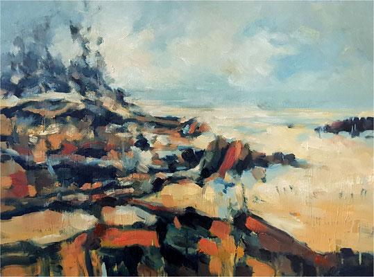 Nach dem Sturm, Öl auf Leinwand, 2019, 80 x 60 cm