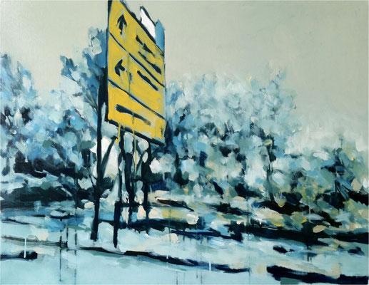 Autobahn, Öl auf Leinwand, 2017, 90 x 70 cm