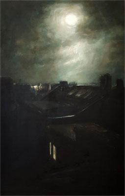 Voll Mond, Öl auf Leinwand, 2019, 70 x 110 cm