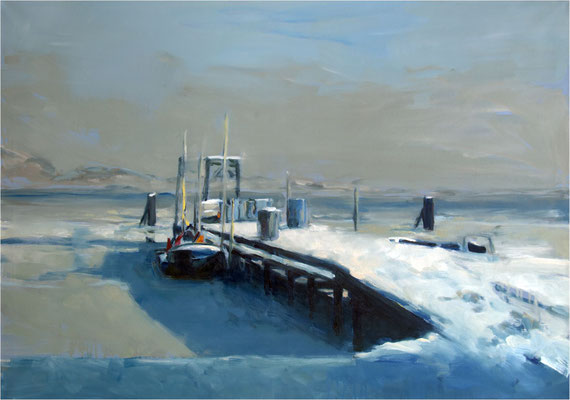 Gobbiner Haken, Öl auf Leinwand, 2021, 100 x 70 cm