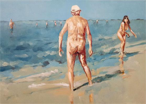 Im Spiel, Öl auf Leinwand, 2020, 70 x 50 cm