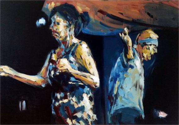 Jazz - Applaus, Öl auf Leinwand, 2017, 100 x 70 cm