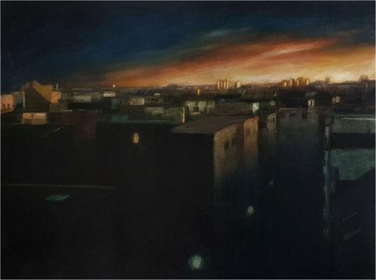 Abend, Öl auf Leinwand, 2020, 80 x 60 cm