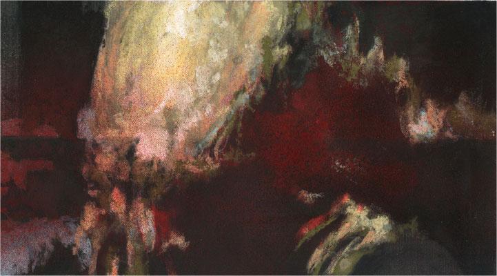 Blackfield Remix VII/2, Kreide und Acryl auf Papier, 2017, 25 x 14 cm