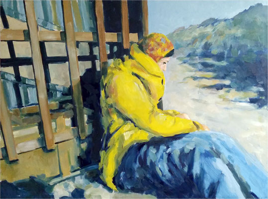 Ruhe in Gelb, Öl auf Leinwand, 2016, 120 x 90 cm