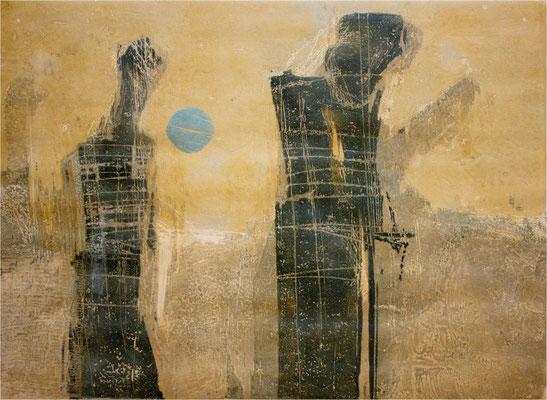 o.T., 1993, 6_Farb, 65 x 48 cm, Unikat
