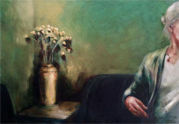 ... und Uta, Öl auf Leinwand, 2018, 100 x 70 cm