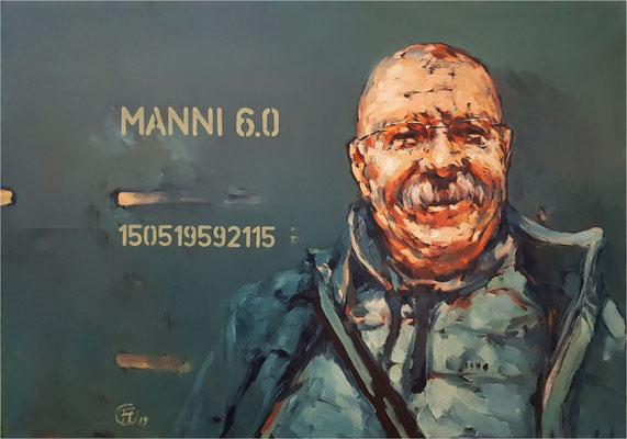 Manni 6.0, Öl auf Leinwand, 2019, 100 x 70 cm