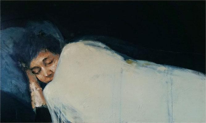 Schlaf, Öl auf Leinwand, 2017, 100 x 60 cm
