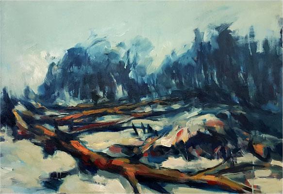 Sturm, Öl auf Leinwand, 2019, 100 x 70 cm