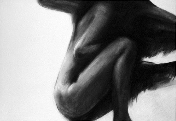Verwandlung 21, Kreide auf Papier, 2005, 100 x 70 cm