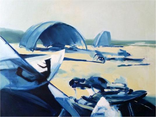 Trassenheide, Öl auf Leinwand, 2014, 120 x 90 cm
