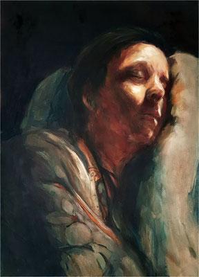 Schlaf, Öl auf Leinwand, 2019, 50 x 70 cm