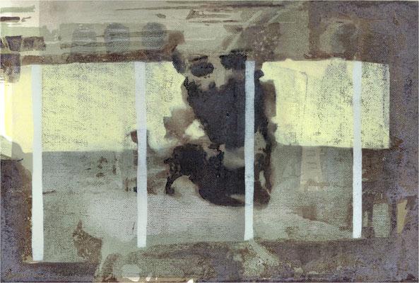 Wie kannst du mir folgen? Aber du trägst mich doch, 2002, 11-Farb, 60 x 40 cm, Unikat