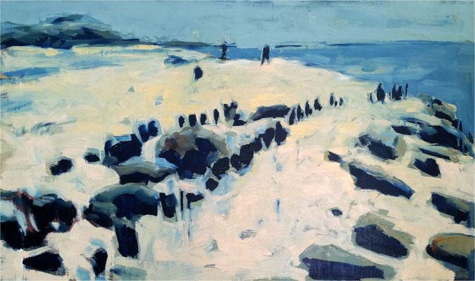 Ostsee 2018, Öl auf Leinwand, 2018, 100 x 60 cm