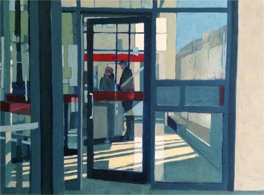 Spiegelung, Öl auf Leinwand, 2018, 120 x 90 cm