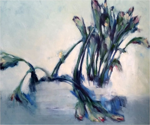 Tulpen 1, Öl auf Leinwand, 2014, 60 x 50 cm