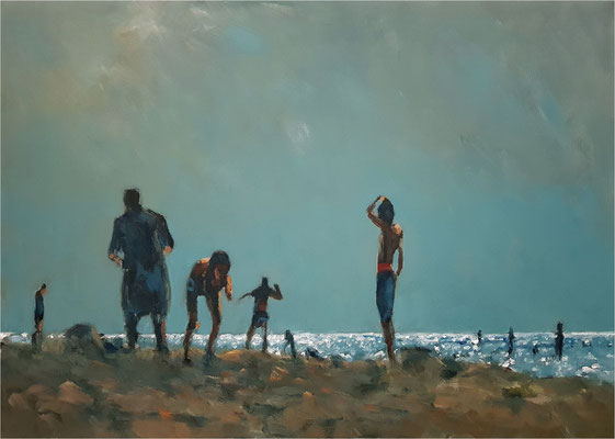 Aufbruch, Öl auf Leinwand, 2020, 70 x 50 cm
