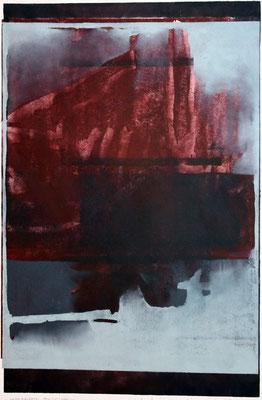 Unverhoffte Spiegelung, 4-Farb, 2002, 40 x 62 cm, Unikat