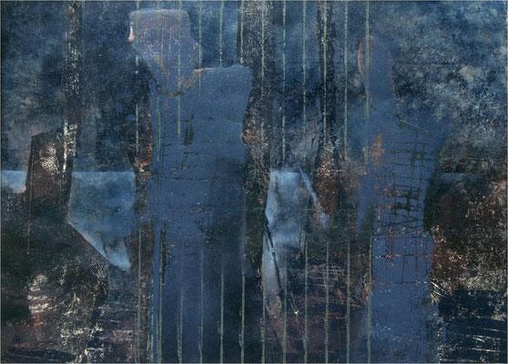 Nachtufer, 2001, 6-Farb, 59 x 41 cm, Unikat
