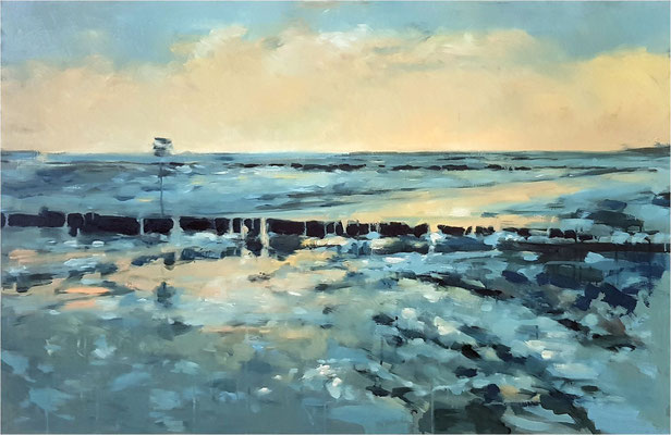 Wintermeer, Öl auf Leinwand, 2019, 120 x 80 cm