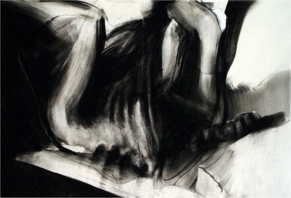 Verwandlung 8, Collage und Kreide auf Papier, 2005, 100 x 70 cm
