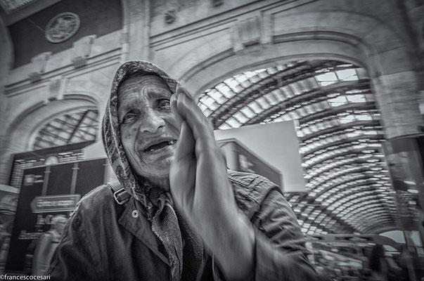 Milano - Train Station - Beggar