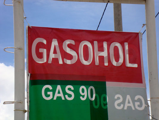 Never really got an explanation for this...gasohol?