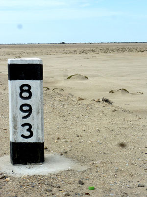 Lone mile marker