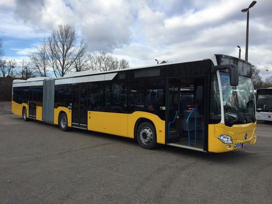 11.02.2019 b, Mercedes-Benz Citaro G, Mannheim - Stuttgart