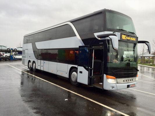 01.12.2015, Setra S 431 DT, Neu-Ulm - Hoerdt/Straßburg, Frankreich