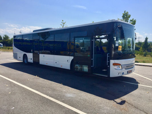31.07.2018, Setra 416 LE buisiness, Neu-Ulm > F-Hoerdt