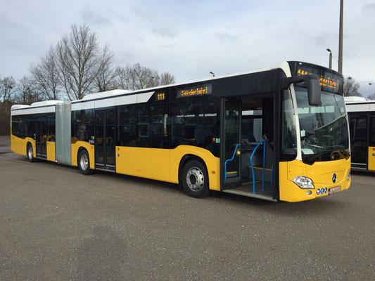 11.02.2019 a, Mercedes-Benz Citaro G, Mannheim - Stuttgart