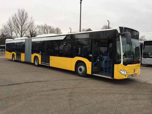 12.02.2019 a, Mercedes-Benz Citaro G, Mannheim - Stuttgart