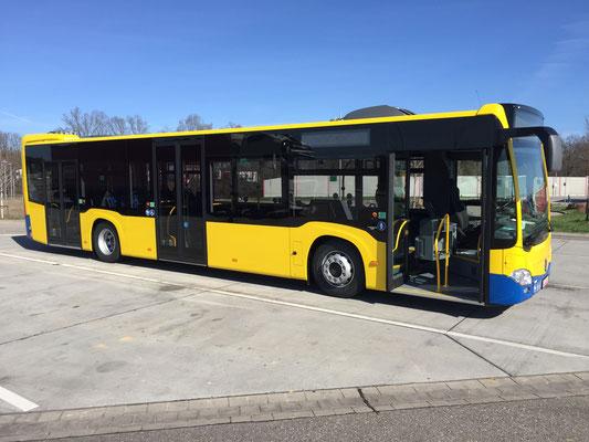 21.03.2019, Mercedes-Benz Citaro Hybrid, Mannheim - München