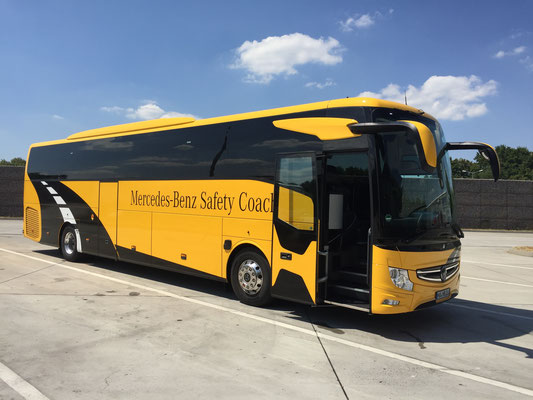 19.07.2018, Mercedes-Benz Tourismo 16,2 RHD (neu), Neu-Ulm > Hirschberg