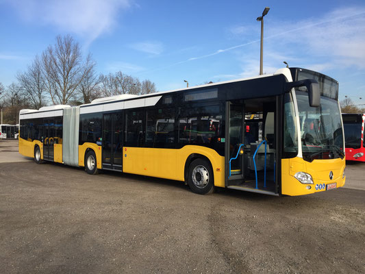 14.02.2019, Mercedes-Benz Citaro G, Mannheim - Stuttgart